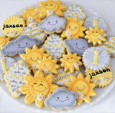 12 You Are My Sunshine Themed Sugar Cookies