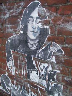 John Lennon graffiti on Berlin Wall