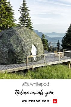 Welcome - Whitepod Eco-Luxury Hotel ❄ Valais - Switzerland Swiss Air, Family Destinations, Mother Earth, Glamping, Switzerland, Hiking, Open Book, Landscape, Luxury