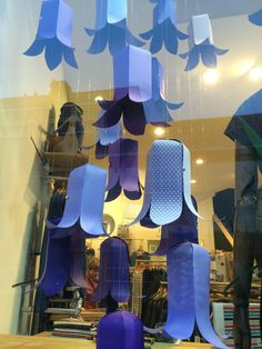 Seasalt's 'bluebells' window in Falmouth. February 2015. Designed and handmade by Seasalt's window design team.