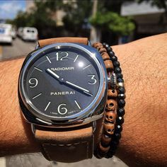 Panerai 45mm Radiomir.⚡️⚡️ PAM 210. Stainless Steel with Suede strap by crmjewelers from Instagram http://ift.tt/1USZly7
