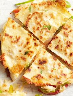 Quick & easy appetizer | Fajita-style quesadillas.