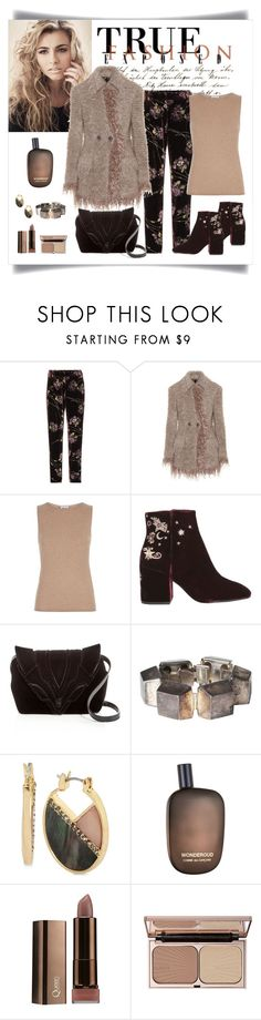 """""""Etro Mohair & Wool Cardigan Look"""" by romaboots-1 ❤ liked on Polyvore featuring CO, Etro, Armani Collezioni, Ash, Elena Ghisellini, Yves Saint Laurent, Kenneth Cole, Comme des Garçons and Charlotte Tilbury"""