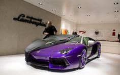 Lamborghini aventador purple