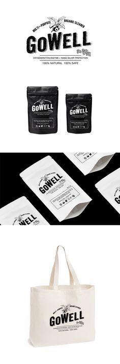 GoWell Multi-purpose Organic Cleaner || #brand #design #packaging #identity #logo #beesandvultures