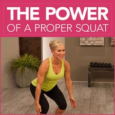 Chris freytag doing a squat with a yellow tank top on with the words The Power of a Proper Squat Wellness Fitness, Fitness Tips, Fitness Motivation, Fitness Fun, Exercise Motivation, Fitness Goals, Proper Squat Form, How To Squat Properly, Squat Workout