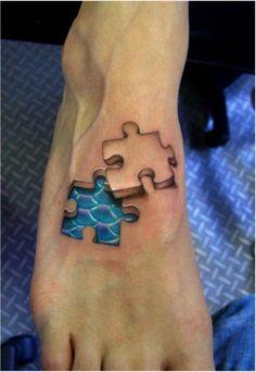 40  Cool Puzzle Piece Tattoo Design Ideas, http://hative.com/cool-puzzle-piece-tattoo-design-ideas/,