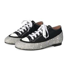 3e34870943461d Cuculus Canvas Women Flats Shoes Brand Spring Single Black Woman Sneakers Rhinestone  Lace Up Female Casual