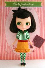 Enid's dress (lala sieste) Tags: outfit doll dress blythe etsy lala puppenhaus