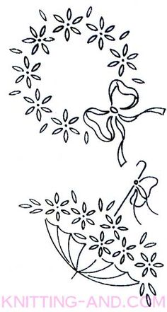 Vintage embroidery patterns around 1940. Daisies