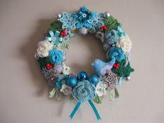 The Summerhouse by the sea: Wintertime Wreath ~ free pattern