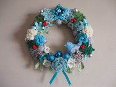 The Summerhouse by the sea: Wintertime Wreath ~ free pattern