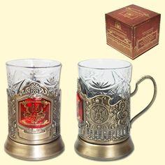 """SHOP-PARADISE.COM:  Teeglashalter """"S jubileyem 65"""" (mit Teeglas 200 ml) 11,76 €"""