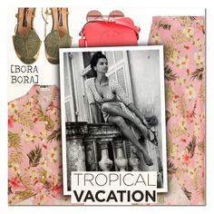 """""""Welcome to Paradise: Tropical Vacation VI"""" by vampirella24 ❤ liked on Polyvore featuring Miguelina, Dolce&Gabbana and Anya Hindmarch"""