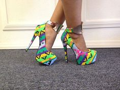 #shoes #brightcolors #highheels
