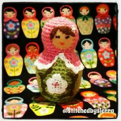 I crocheted this little matryoshka nesting doll (my pattern)