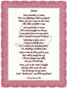 12 Best Sis Poems Images Love My Sister Sisters Sister Qoutes