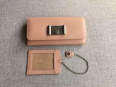 S/S 2016 Prada Classic Accessories Cheap Sale Online-Prada Sakura Pink Saffiano Lock Leather Flap Wallet