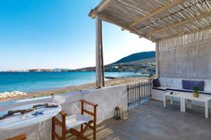 Thalassa Beach House for rent in Kimolos by Aria Hotels. Thalassa Beach House for family & friends vacations in Kimolos. Greece House, Beach Houses For Rent, House Property, Bedroom Night, Double Beds, Coastal Living, Renting A House, Outdoor Structures, Patio