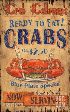 Crab Calloway Vintage Wood Sign at Art.com