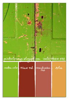 COLORWAYS             An Annie Sloan Chalk Paint color scheme added to this image of a Lime Green door