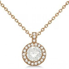 solitaire pave necklace - Google Search