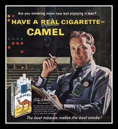 """Have a REAL Cigarette – Camel Cigarettes"", 1961, smoked by real Space Engineers, so you know its credible"