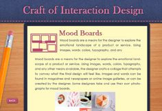 "Interactive e-learning ""Craft of Interaction Design"" by Hannah Cancaida, via Behance"