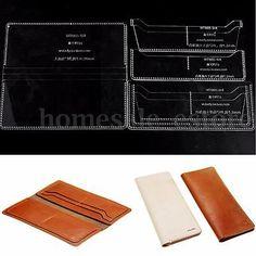 Кожаный бумажник чехол карта 8 слотов узор ремесло акрил шаблон набор ручной работы