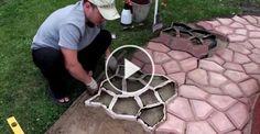 Ecco una fantastica idea per un marciapiede da giardino… davvero geniale!