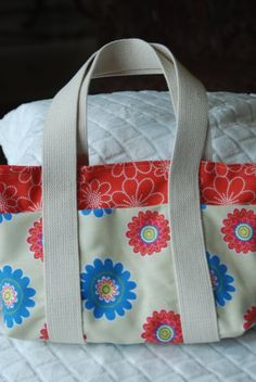 Canvas Cotton Tote Bag Purse by BeeBlessed on Etsy, $18.00
