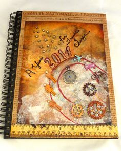 Starting a new year....mixed media art journal and smash book;  on my blog