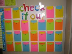 Classroom Library Check-Out System - I'd use this for daily home readers