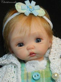*POLYMER CLAY ~ Ooak Hand Sculpted Mini Polymer Clay Baby Girl ART Doll | eBay