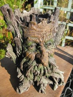 Green Man's wisdom emerges from trees