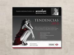 Diseño de Invitación para evento de moda y tendencias. #diseño #tarjetas #diseño