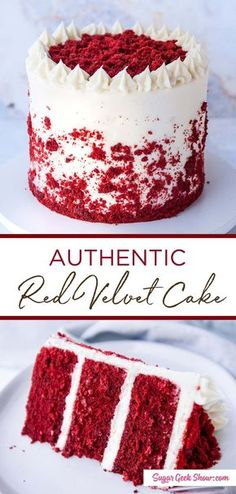 how to make an authentic red velvet layer cake with cream cheese frosting. If yo. how to make an authentic red velvet layer cake with cream cheese frosting. If you& been wondering how to make a REAL red velvet cake, you need to try this recipe! Chocolate Oreo Cake, Chocolate Recipes, Hot Chocolate, Decadent Chocolate, Chocolate Covered, Is Red Velvet Chocolate, Homemade Chocolate Cakes, Easy Chocolate Cake Recipe, Chocolate Christmas Cake