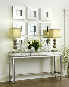 Our sophie mirrored console table is perfectly at home in kikimariah 39 s home don 39 t you think - Alluring mirrored console table for modern interior home furniture ...