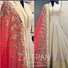 Anarkali ensemble by ZAFFRAN | Request lookbook #0340 at: customercare.zaffran@gmail.com