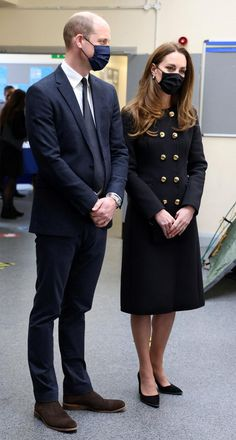 The Duke and Duchess of Cambridge Visit the 282 Squadron of Air Training Corps — Royal Portraits Gallery Kate Middleton Prince William, Prince William And Kate, Prince Philip, Duke And Duchess, Duchess Of Cambridge, Funeral, Royal Family Pictures, Military Style Coats, Diana Williams