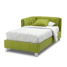 Jordan II Twin Corner Bed | American Signature Furniture/ ? Do I do a solid quilt or pattern quilt with this bed?
