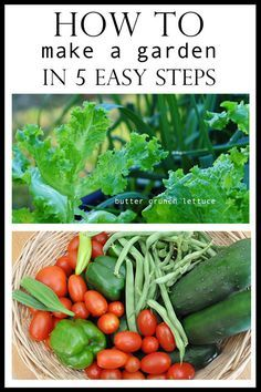 5 steps on how to make a garden. Great for apartments, townhomes, backyards, or patio homes. a unique new way to garden. blog w/ tons of pics and how to. pin now and read when you are ready to start a garden.