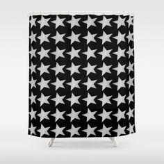 #Silver #Stars Design #Shower #Curtain - $68.00