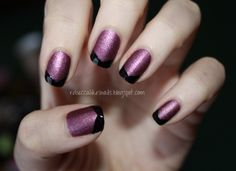 rebecca likes nails: OPI We'll Always Have Paris Suede + Essence Black Is Back