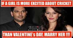 #INDvsSL #INDvsWI #TeamIndia #T20I #ODI #U19CWC  #HappyValentinesDay  #happyvalentineweekday Cricket Trolls  :)  http://www.crickettrolls.com/2016/02/14/valentines-day-fun/
