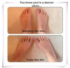 You know you're a dancer when....