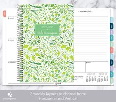 12 MONTH PLANNER - CHOOSE YOUR START MONTH ***Please keep in mind processing and shipping times when choosing your start month  + Add a clip-in PAGEMARKER to your order: http://etsy.me/1qH4Ljg  + Add STICKER SHEETS to your order: http://etsy.me/1qH4JIp   -- YOU MUST READ BEFORE PURCHASING --  1. Choose the layout (horizontal and vertical) and monthly tabs option that you would like from the drop down menu. You can view the different layouts by cycling through the...