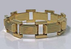 1940's Retro 14K rose gold Bracelet Gold Bracelets, Rose Gold, Retro, Design, Gold Charm Bracelets, Retro Illustration, Gold Bangles