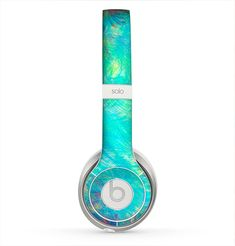 The Vibrant Colored Messy Painted Canvas Skin for the Beats by Dre Solo 2 Headphones Best In Ear Headphones, Sports Headphones, Bluetooth Headphones, Beats Headphones, In Ear Buds, Beats By Dre, Audiophile, Tech Accessories, Hearing Things