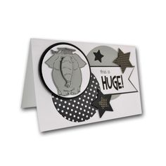 Stamped Elephant Grad Card